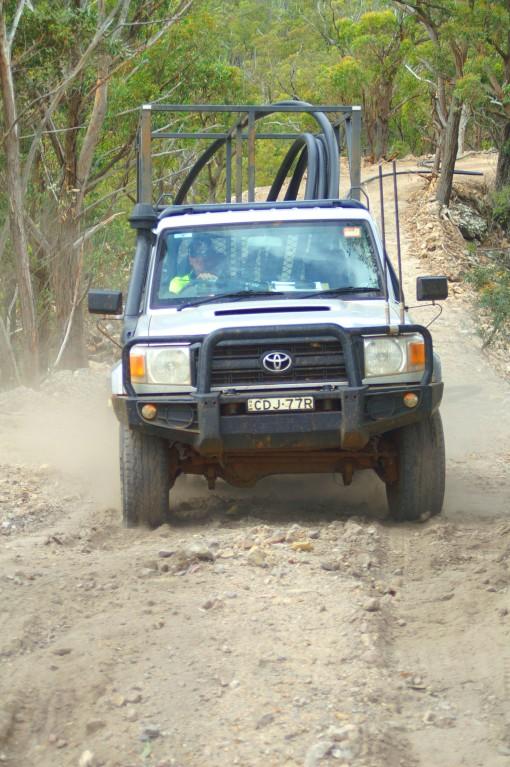 Stuck on the steep road