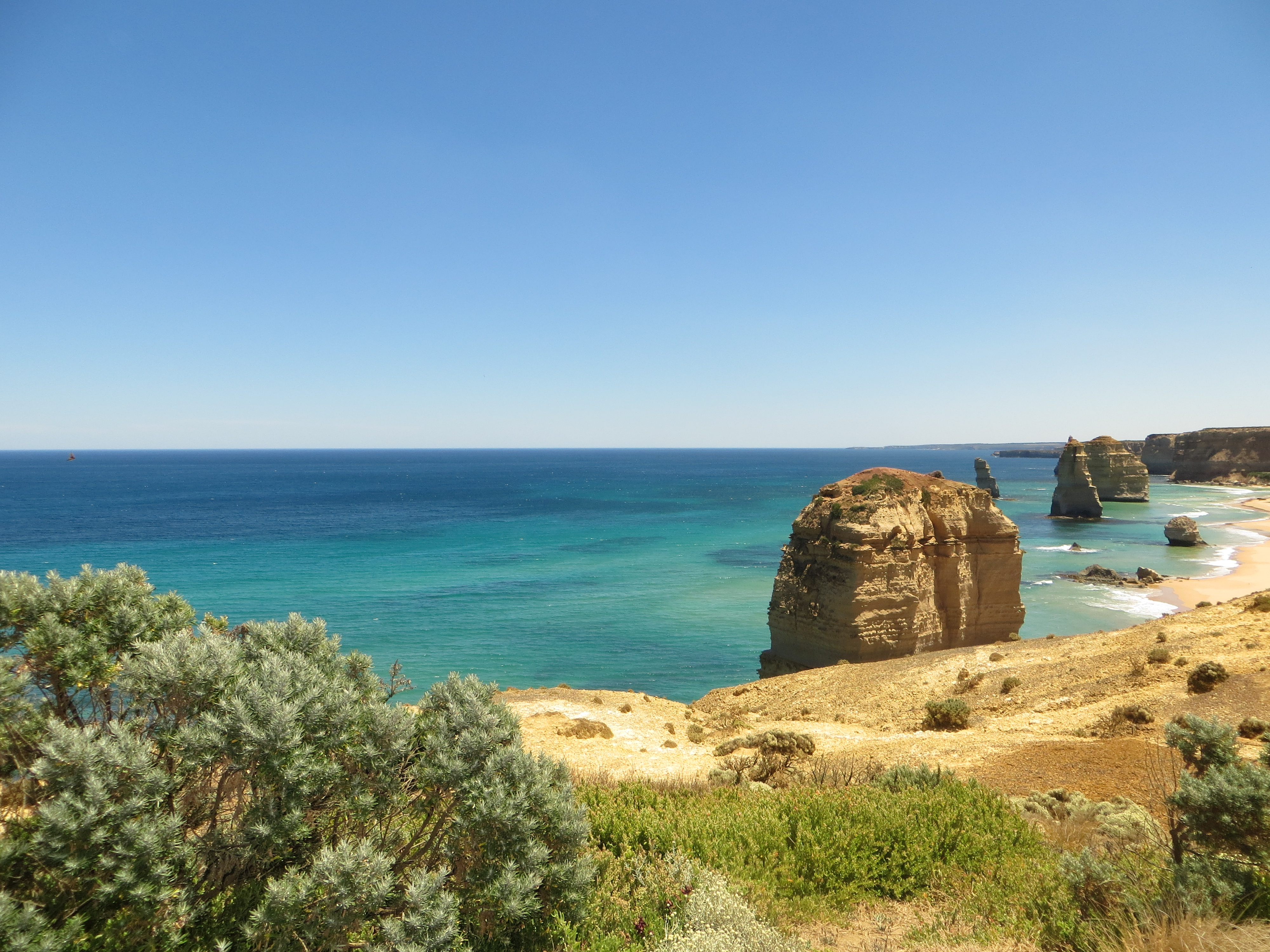 From a small path around The Twelve Apostles