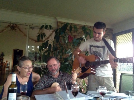 A nice sing song with Peter and Lucy