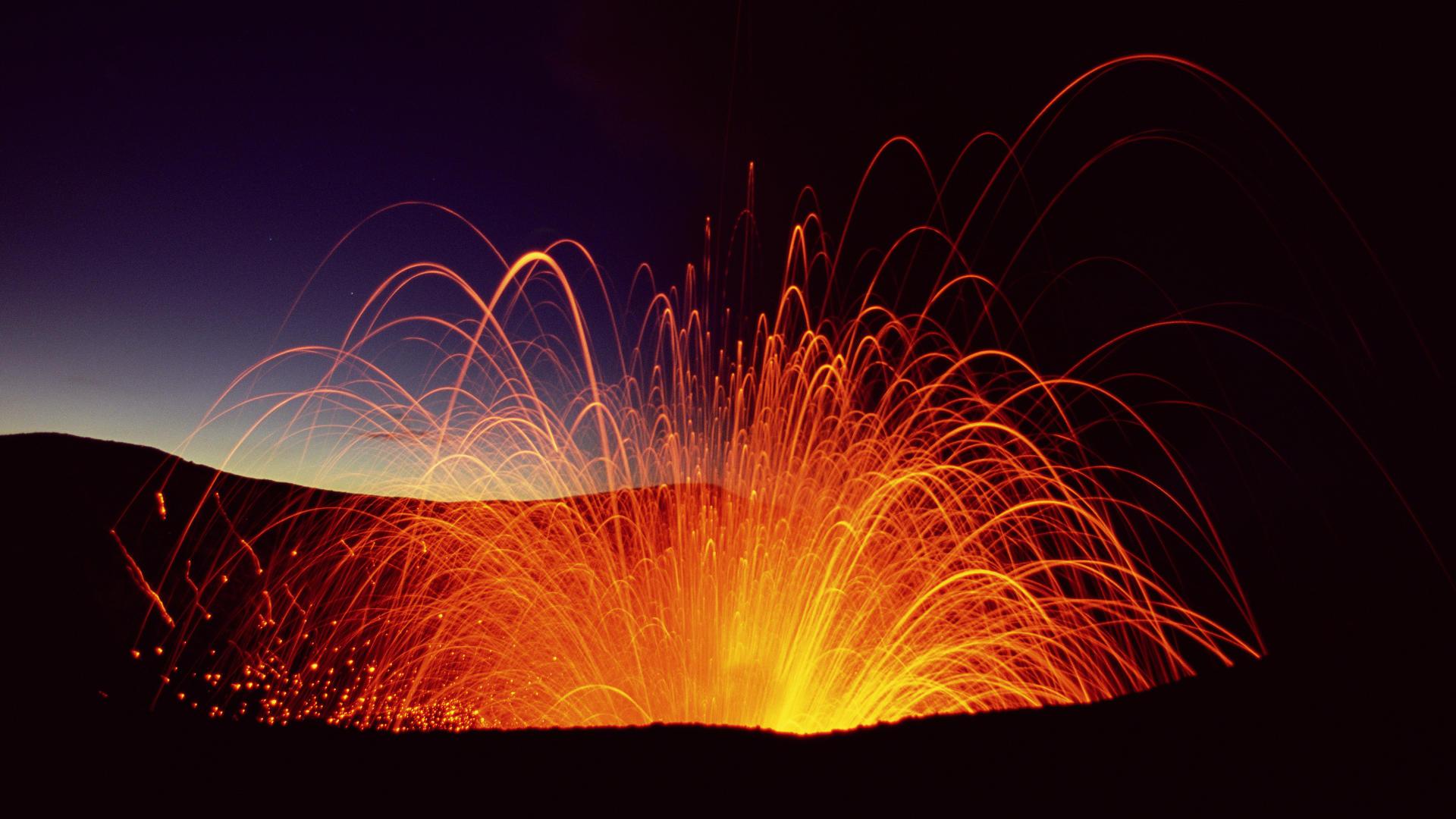 Mount Yasur Erupting Tanna